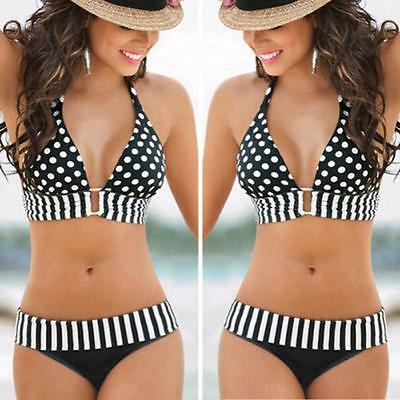 Women Swimwear Push-Up Bikini Set Bandeau Padded Swimsuit Beachwear