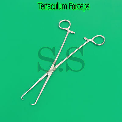 "NEW SCHROEDER BRAUN Tenaculum Forceps 10"" Gynecology Surgical Instruments-A+"