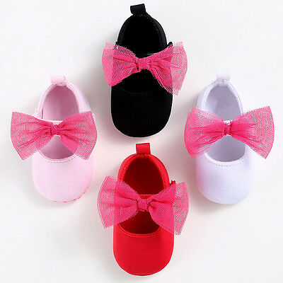 New Baby Infant Kids Girl Spring Soft Sole Crib Shoes Toddler Cotton Cloth Shoes