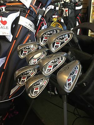Ping G15 Irons 4-Pw Black Dot Regular Flex Steel Shafts.trade In Available.