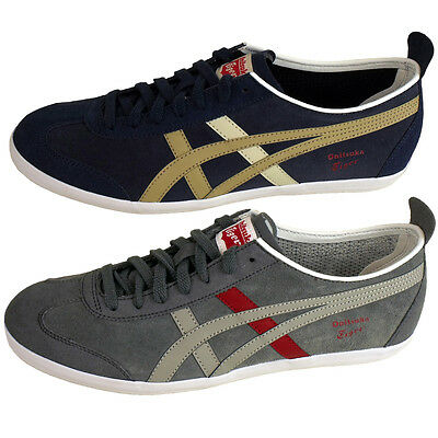 half off f4ddb 7bf40 MENS ASICS ONITSUKA Tiger Mexico 66 Trainers Suede Leather Trainer Retro  Shoes
