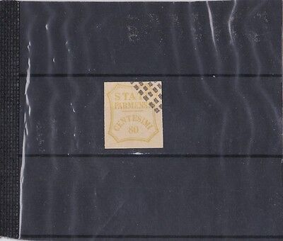 Fine Used Italy State Of Parma  Imperf 80C Fournier Forgeries Stamp Used 23*