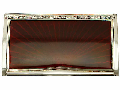 Antique Sterling Silver and Enamel Dressing Table Box, George V