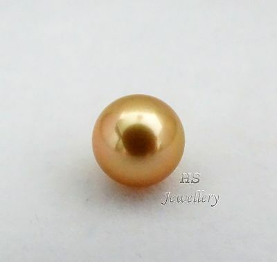 HS Rare Round Loose Golden South Sea Cultured Pearl 10.42mm in Top Grading