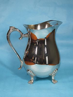 Vintage A1 Silverplated Footed Water Pitcher With Ice Guard Very Good Condition