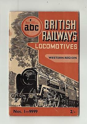 Ian Allan Abc British Railways Western Region Locomotives Apr 51 No Underlining
