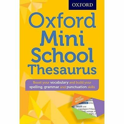 Oxford Mini School Thesaurus (Oxford Dictionary) - Paperback NEW Oxford Dictiona