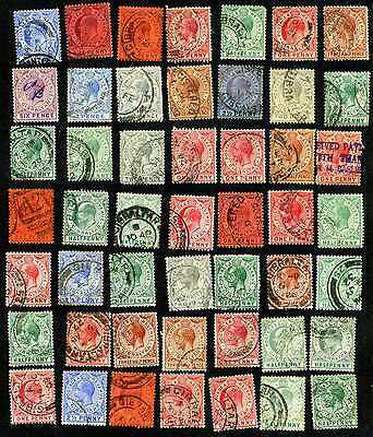 Old, used & unused stamps of Gibraltar, Ed. VII to George VI, many duplications.