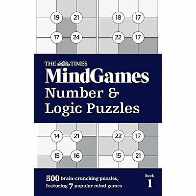 The Times Mind Games Number and Logic Puzzles Book 1 - Paperback NEW The Times M