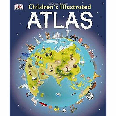 Children's Illustrated Atlas (Dk Childrens Atlas) - Hardcover NEW Andrew Brooks(