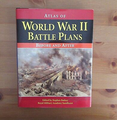 WW2 ATLAS BATTLE PLANS BEFORE AFTER BOOK MAPS badsey