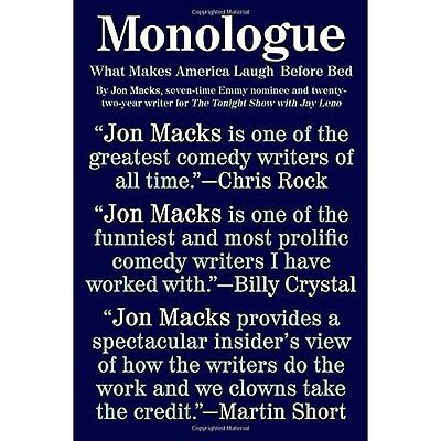 Monologue: What Makes America Laugh Before Bed - Paperback NEW Jon Macks (Auth 1
