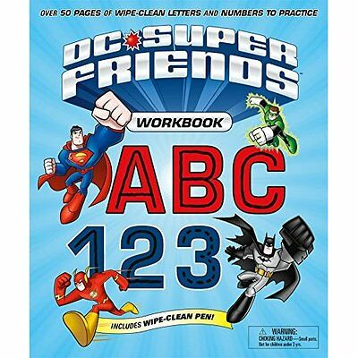 DC Super Friends Workbook ABC 123: Over 50 Pages of Wip - Spiral-bound NEW DC Co