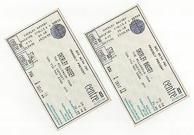Shirley Bassey - Brighton Centre 2000 - 2 Used Front Row Tickets - Gay Interest