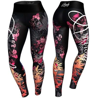 Anarchy Apparels Leggings, Floral, Fitness Hosen, Gym Pants Training