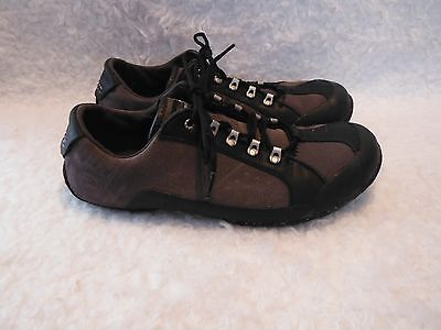 Men's Teva, Black & Gray Leather, Casual Shoes, Size 9