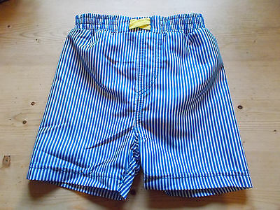 M&S Pull-On Striped Swim Shorts w/Integrated Swim Nappy 3-6m 6-9m Blue Mix BNWT