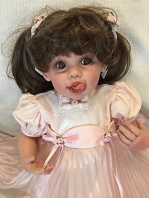 """""""To Mommy, Sealed with a Kiss"""" doll by FAYZAH SPANOS Greek artist 25"""" Vinyl COA"""