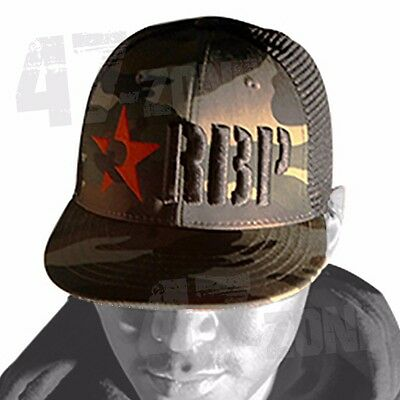 RBP Camo Trucker Hat Cap Red Star Camouflage Snap Back One Size Fits All
