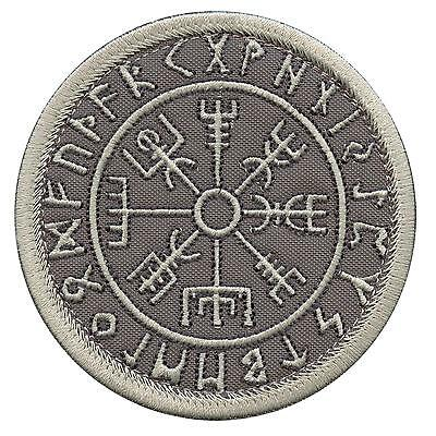 vegvisir compass runic viking icelandic norse ACU subdued hook-and-loop patch