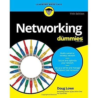 Networking For Dummies - Paperback NEW Doug Lowe (Auth 10 Jun. 2016