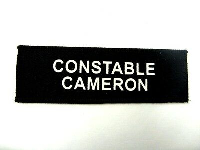2 Lines Of Text Printed Name Tape Small (Met Size) Trf Zap Badge Id