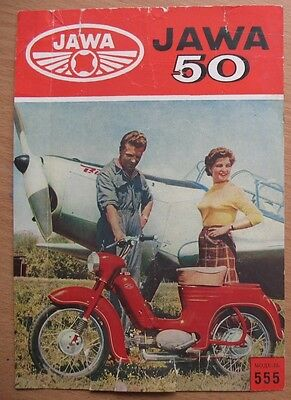 Import  Advertising Booklet Sport Motorcycle JAWA 50 555 Motor Cycle USSR