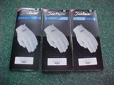 3 New Titleist Mens Perma Soft Golf Gloves  Small, Left Handed Man