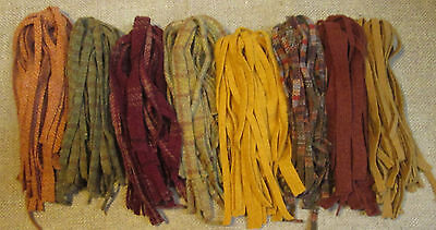 PRIMITIVE HARVEST 200 hand & mill dyed #8 Rug Hooking Cut Wool Strips