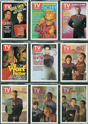 The Quotable Star Trek Ds9 Complete Set Of 9 Tv Guide Cards