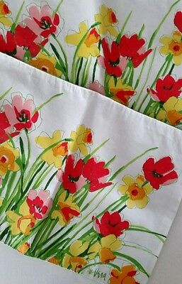 Vera Neumann 2 Floral Placements Yellow Daffodils Orange Poppies Spring Flowers