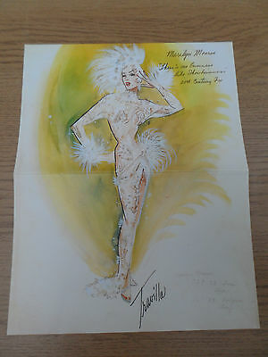 Marilyn Monroe ~ Costume Sketch ~ There's No Business Like Show Business, 1954
