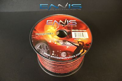 10 Gauge 100 Ft Red Black Speaker Wire Awg Cable Power Stranded Copper Clad Ee