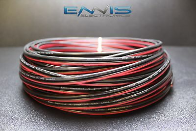 12 Gauge 200 Ft Red Black Speaker Wire Awg Cable Power Stranded Copper Clad Ee