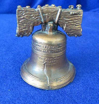 Cast Metal Liberty Bell Copper With Clapper Collectible Bt 204