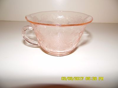 Depression Glass Pink Tea Coffee Cup MacBeth Evans Dogwood Apple Blossom Pattern