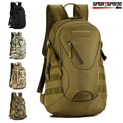 Military Tactical Backpack Rucksack Outdoor Sports Camping Hiking Bag Packs 20L