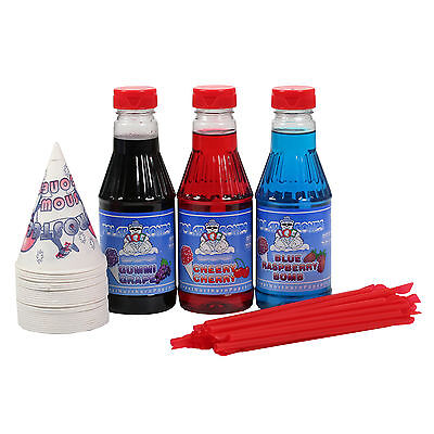 3 Flavor Party Pack Snow Cone & Shaved Ice Syrup -Pint Great Northern Popcorn