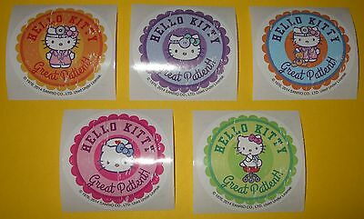 """HELLO KiTTY Sanrio STiCKERS Doctor~Nurse~GREAT PATiENT Rx Collection~Round 2.5"""""""