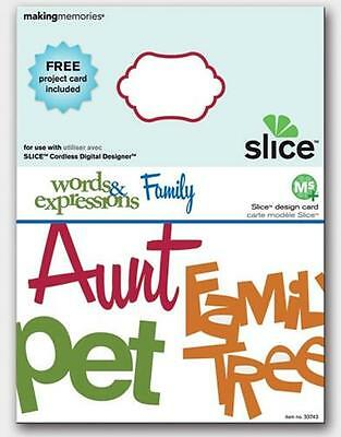 Slice Design Card MS+ Words & Expressions Family 33743