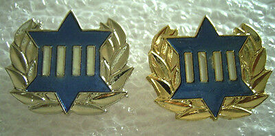 Israel Parliament (Kneset) Guard  Silver and Gold Officer  pin
