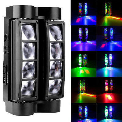 80W RGBW 4in1 LED Spider Beam Moving Head Stage Lighting Disco DJ Party Light