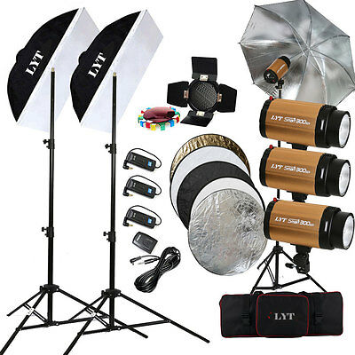 LYT 300SDI 900W Profession Flash Lighting + Trigger Kit Photography Strobe Light