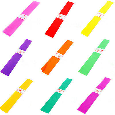 100pcs Coloured Crepe Paper For Art Craft Gift Wrap Or Florist Assorted Colours