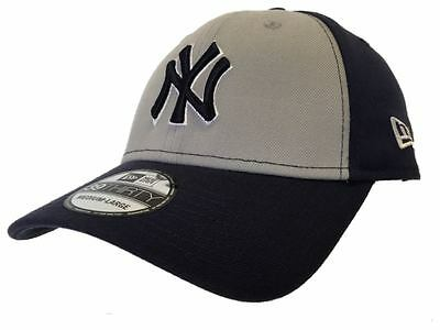 New York Yankees New Era 39Thirty Gray Navy NY Structured Flex Hat Cap (M/L)