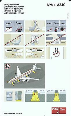 Safety Card - Swiss International Air Lines - A340 - c2006  (S2208)