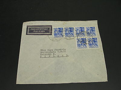 Indonesia 1951 airmail cover to finland *20532