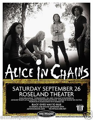 ALICE IN CHAINS 2009 PORTLAND CONCERT TOUR POSTER - Seattle Grunge Music