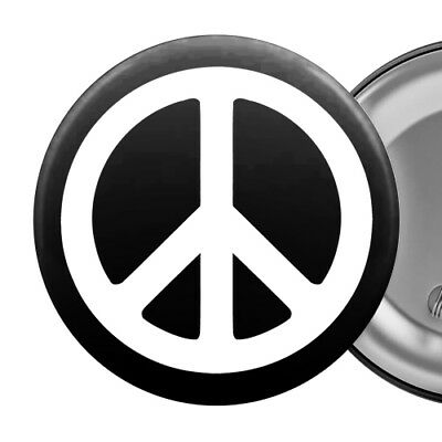"Peace Symbol Large Badge Button Pin 55mm 2.25"" Anti-War"