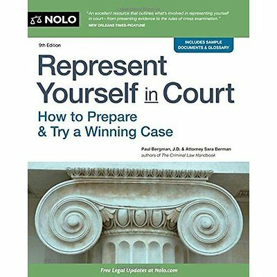 Represent Yourself in Court: How to Prepare & Try a Win - Paperback NEW Paul Ber